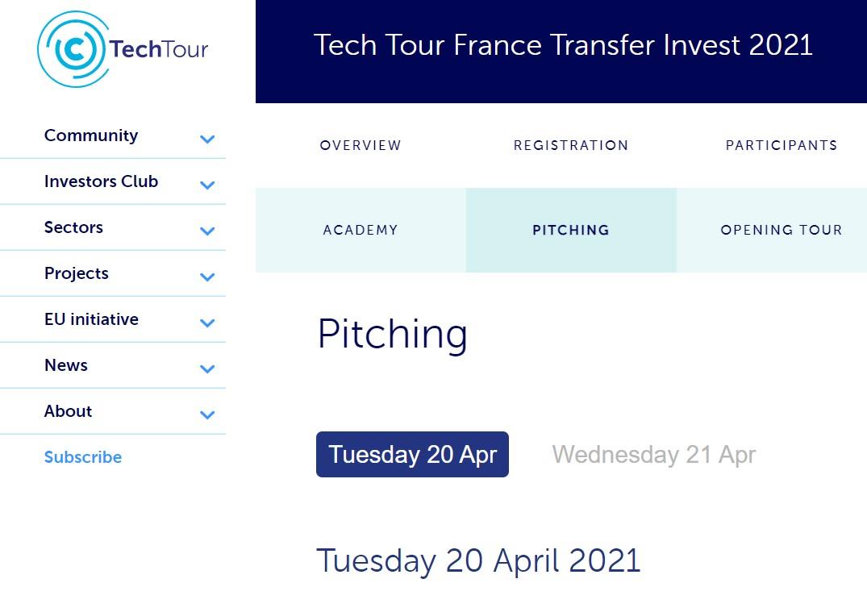 Tech Tour France Transfer Invest 2021